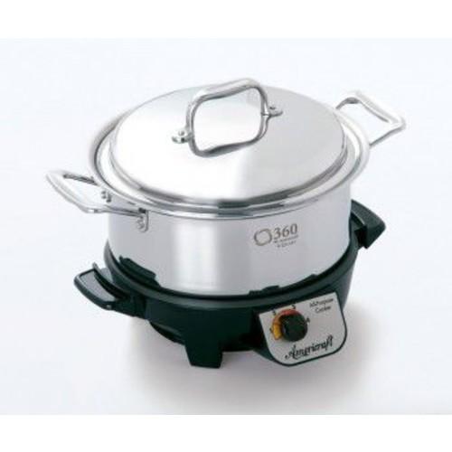 360 Cookware Gourmet Slow Cooker; 4-Qt.