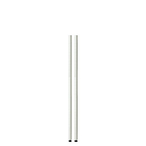 Honey-Can-Do 48In White Pole With Leg Levelers - 2-Pack