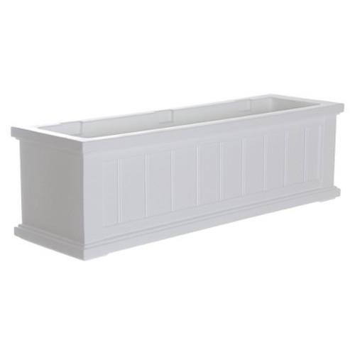 Mayne 4840-W Cape Cod Decorative Window Box, 3' , White [White]