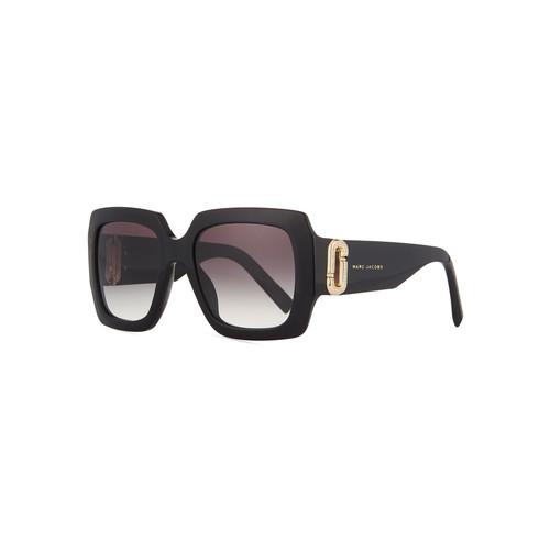 MARC JACOBS Neiman Marcus 110Th Anniversary Edition Square Sunglasses, Black/Gray