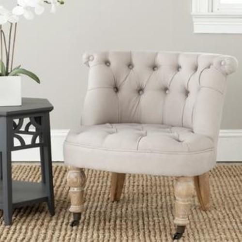 Safavieh En Vogue Carlin Taupe Tufted Chair
