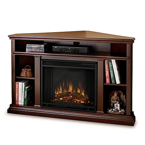 Real Flame Churchill Electric Fireplace Media Console in Espresso