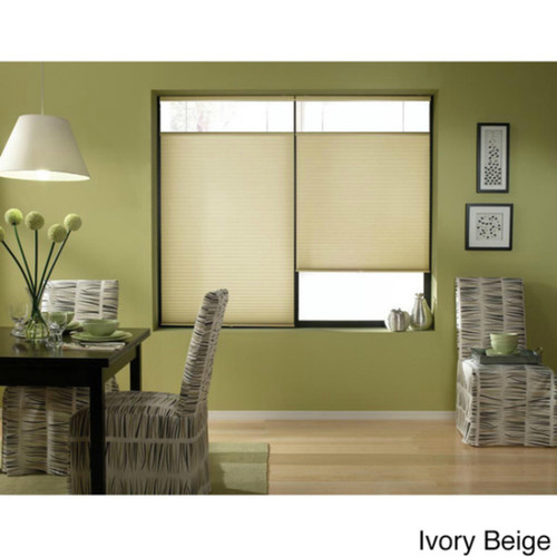 First Rate Blinds Ivory Beige 22 to 22.5-inch Wide Cordless Top Down Bottom Up Cellular Shades [option : 22 x 36 - 36 Inches]