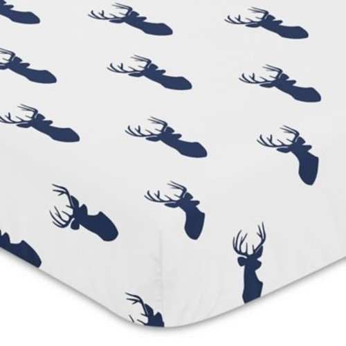 Sweet Jojo Designs Woodland Deer Fitted Crib Sheet