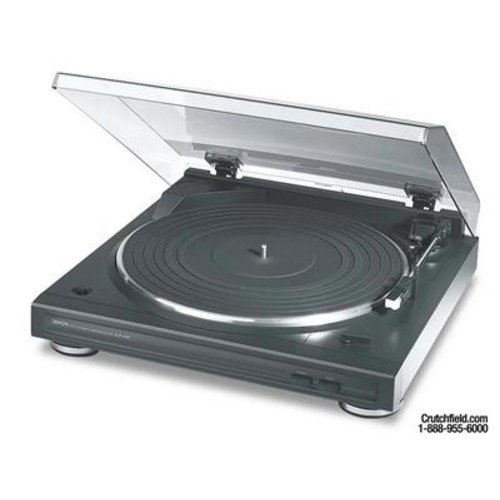 Denon DP-29F Automatic belt-drive turntable with pre-mounted cartridge and built-in phono preamp