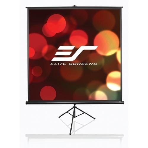 Elite Screens Tripod, 85-inch, Adjustable Multi Aspect Ratio Portable Pull Up Projection Projector Screen, T85UWS1 [1:1, 85-inch, Tripod Series - Black]