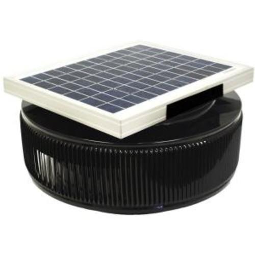 Active Ventilation 740 CFM Black Powder Coated 10 Watt Solar Powered 12 in. Dia. Retrofit Attic Roof Fan