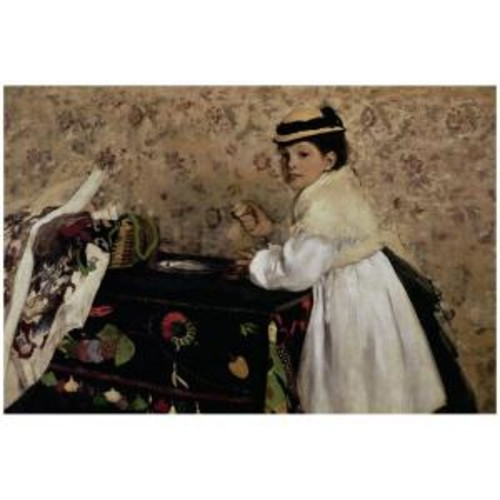 Trademark Fine Art 22 in. x 32 in. Portrait of Miss Valpincon 1869 Canvas Art
