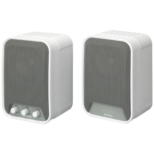 Epson ELPSP02 2.0 Speaker System - 30 W RMS - White - 80 Hz - 20 kHz