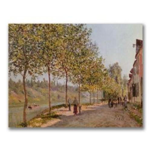 Trademark Fine Art 24 in. x 32 in. June Morning in Saint-Mammes Canvas Art