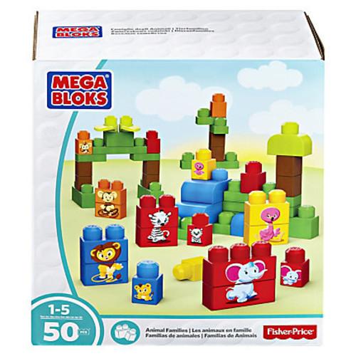 Mega Bloks Animal Families Building Blocks Set - Theme/Subject: Learning, Animal - Skill Learning: Building, Matching, Stacking, Motor Skills, Problem Solving - 50 Pieces
