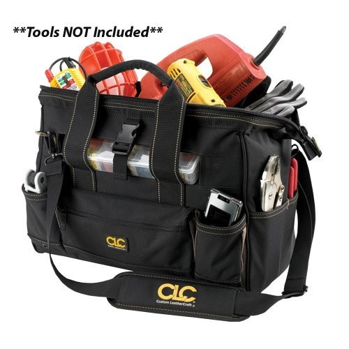 CLC Custom Leathercraft 1534 16 Inch Tote Bag with Top Plastic Tray and 23 Pockets [16