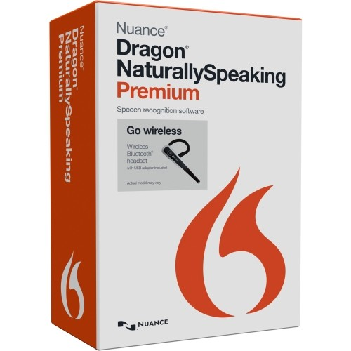 NUANCE COMMUNICATIONS DRAGON NATURALLYSPEAKING PREMIUM 13.0 US ENGLISH, MAILER, WIRELESS (W/BLUETOOTH
