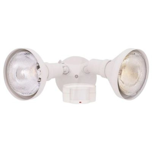 Designers Fountain Area & Security 2-Light White Outdoor Incandescent Security Light with Motion Detectors