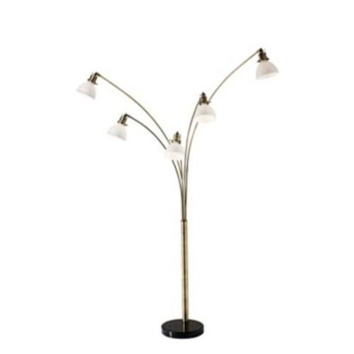 Adesso Spencer Antique Brass Arc Lamp 84
