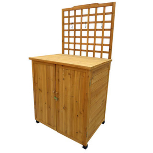 Cyprus Wood Potting Table with Storage