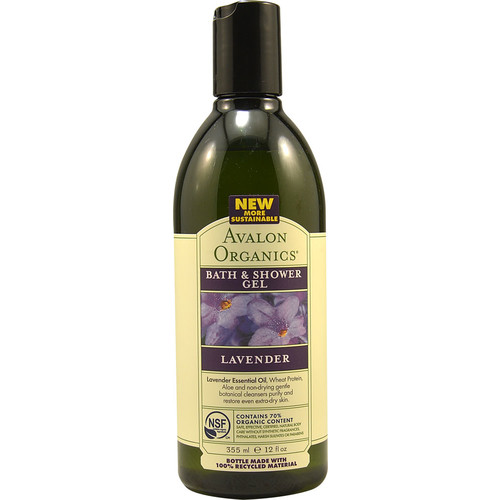Avalon Organics Bath & Shower Gel Nourishing Lavender -- 12 fl oz