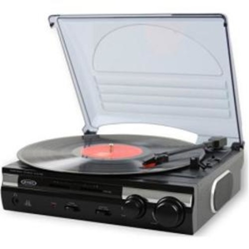 Jensen JTA230 3Speed Stereo Turntable with Builtin Speakers and Speed Adjustment