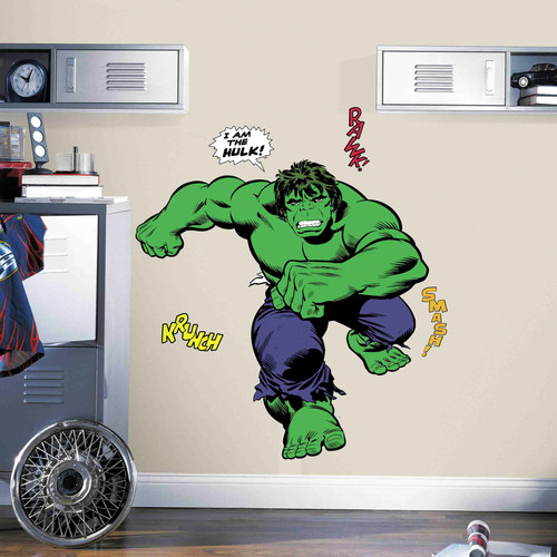 RoomMates Decor Classic Hulk Comic Peel-and-Stick Giant Wall Decals