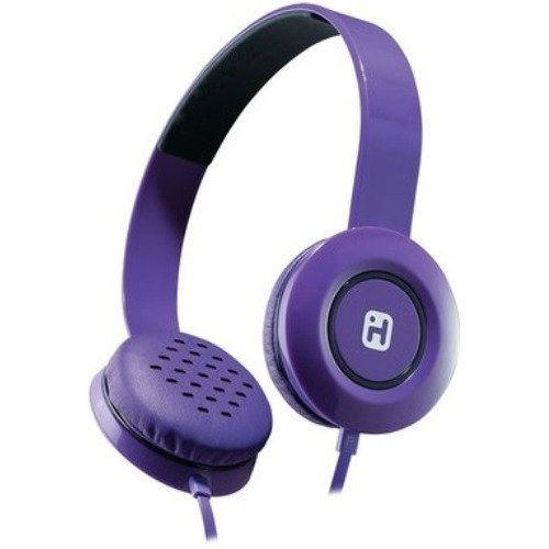 iHome iB35 Stereo Headphones with Flat Cable - Violet (IB35UBC)