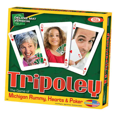 Ideal Tripoley Deluxe Mat Edition Card Game [Multicolor, None]