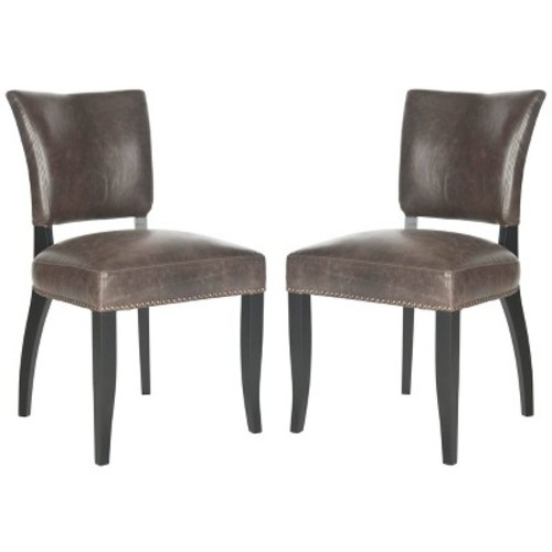 Dining Chair Wood/Brown (Set of 2) - Safavieh
