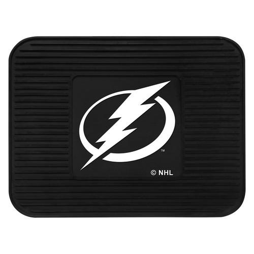 Fanmats 10783 NHL Tampa Bay Lightning Rear Second Row Vinyl Heavy Duty Utility Mat [Black, Rear]
