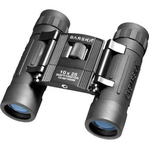 Barska Optics Lucid View Compact Binocular 10x25mm, Blue Lens