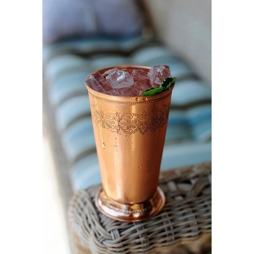 Alchemade Copper Floral 18 oz. Mint Julep Cup
