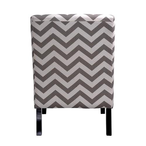 Nathaniel Home Katherine Grey Chevron Accent Slipper Chair