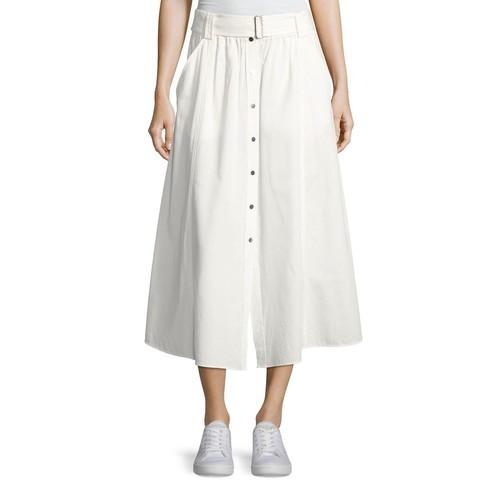 A.L.C. Divya Button-Front Poplin Maxi Skirt