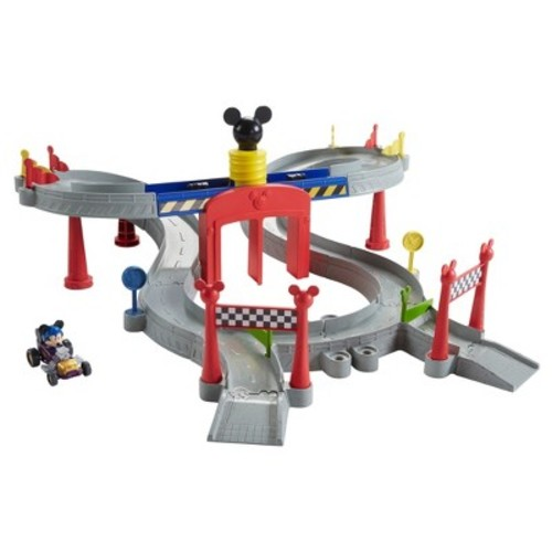 Fisher-Price Disney Mickey and the Roadster Racers Mickey Ears Raceway Track Set
