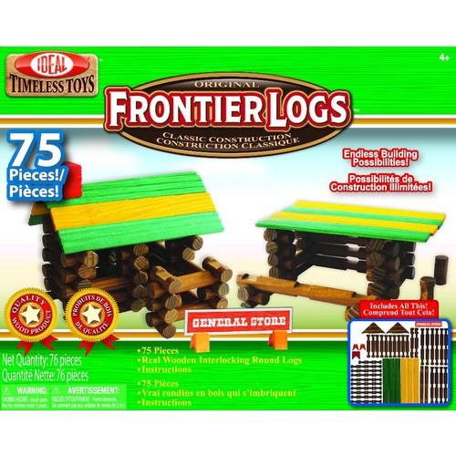 Ideal Toy Alex Brands Ideal Frontier Logs Wood Construction 75-piece Set