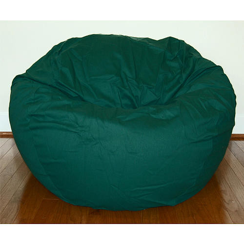 Ahh! Products 36 Inch Wide Washable Large Bean Bag Chair - Dark Green Cotton