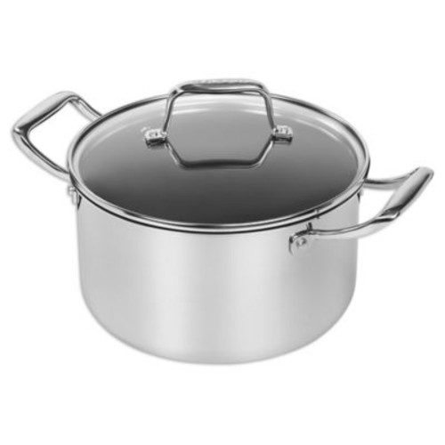 MAKER Homeware Nonstick Tri-Ply Stainless Steel 5 qt. Covered Dutch Oven