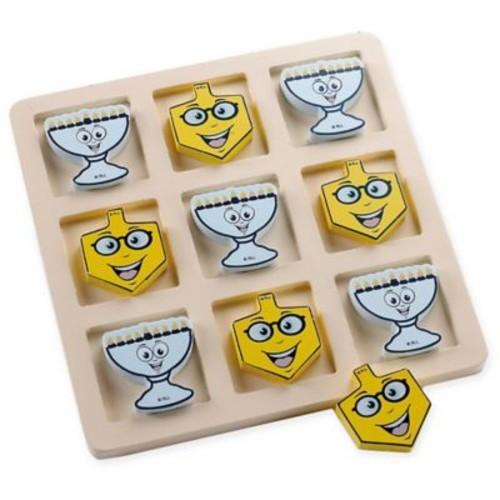 Wooden Hanukkah Tic-Tac-Toe Game