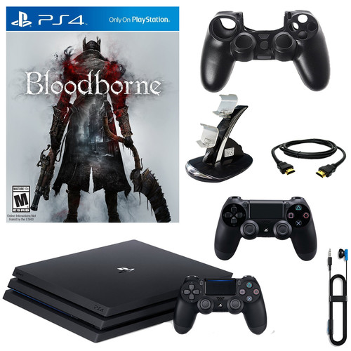 Sony PlayStation 4 Pro 1TB Console With Bloodborne & Accessories