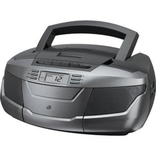 GPX INC GPX BCA206S CD Boom Box with AM-FM Radio & Cassette Playeru0026#44; Black