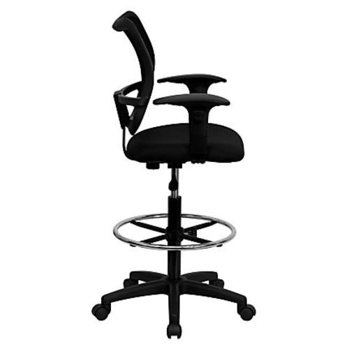Flash Furniture Mesh Mid-Back Drafting Chair, Black