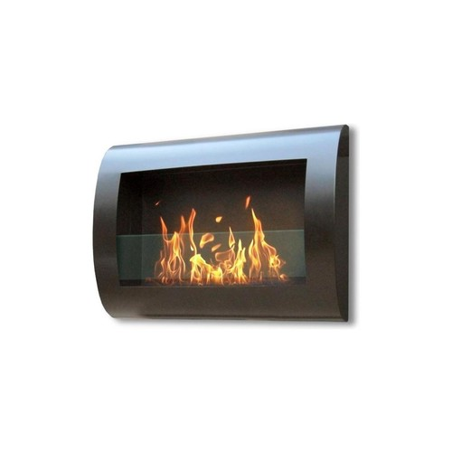 Anywhere Fireplace Chelsea Black Wall Mount Fireplace 27.5