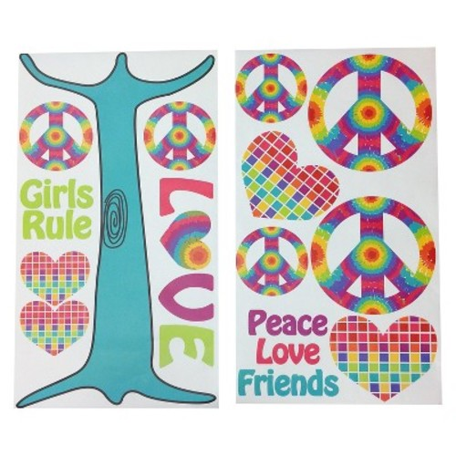 One Grace Place Terrific Tie Dye Wall Decals - Multicolor (20\