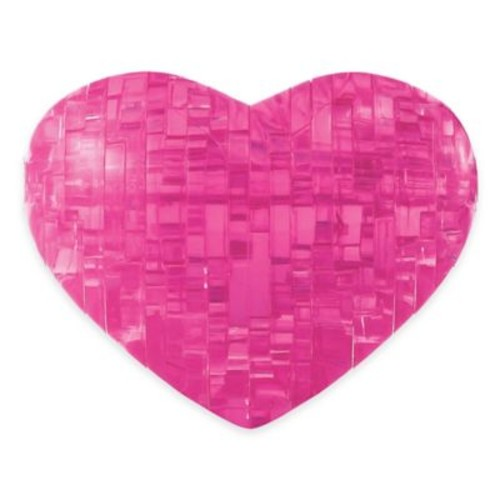 Heart 45-Piece Original 3D Crystal Puzzle in Pink