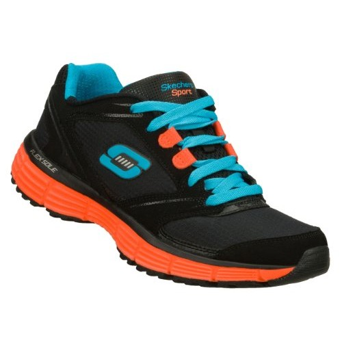 Skechers Agility Rewind Womens Sneakers Black/Coral 7
