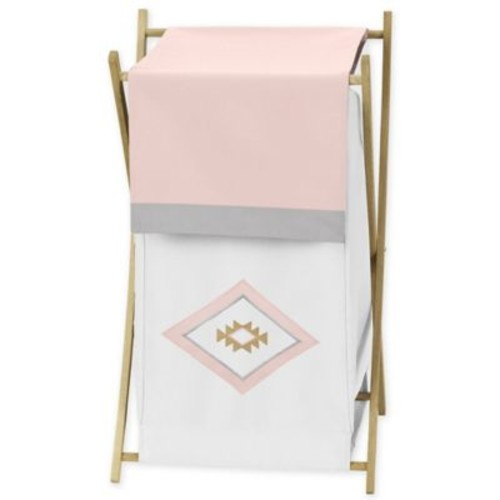 Sweet Jojo Designs Aztec Laundry Hamper in White/Pink