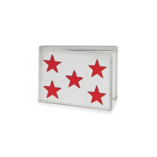 SAINT LAURENT Metallic Leather Star Bifold Wallet