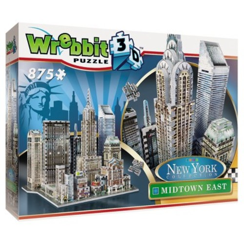 York Collection Midtown East 875-Piece 3D Puzzle by Wrebbit