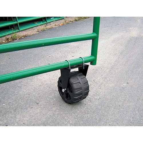 Supportive Rolling Gate Wheel  300-lb. Capacity, 9 5/8in.D x 6in. Gate Wheel