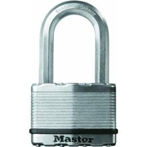 Master Lock Padlock, Magnum Laminated Steel Lock, 2-1/2 in. Wide, M15XKADLH [Laminated, 2 Inch Shackle, 1-Pack]