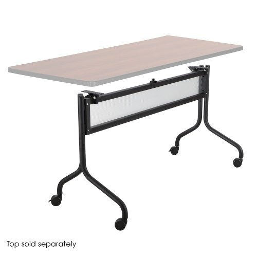 SAFCO PRODUCTS 2031BL Impromptu Series Mobile Training Table Base, 49-1/2w x 24d x 28h, Black