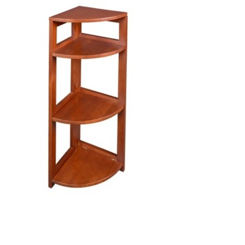 Regency Flip Flop 34-inch High Corner Folding Bookcase- Cherry [Cherry, 34-inch]